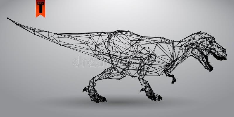 T -t-rex van driehoeken stock illustratie