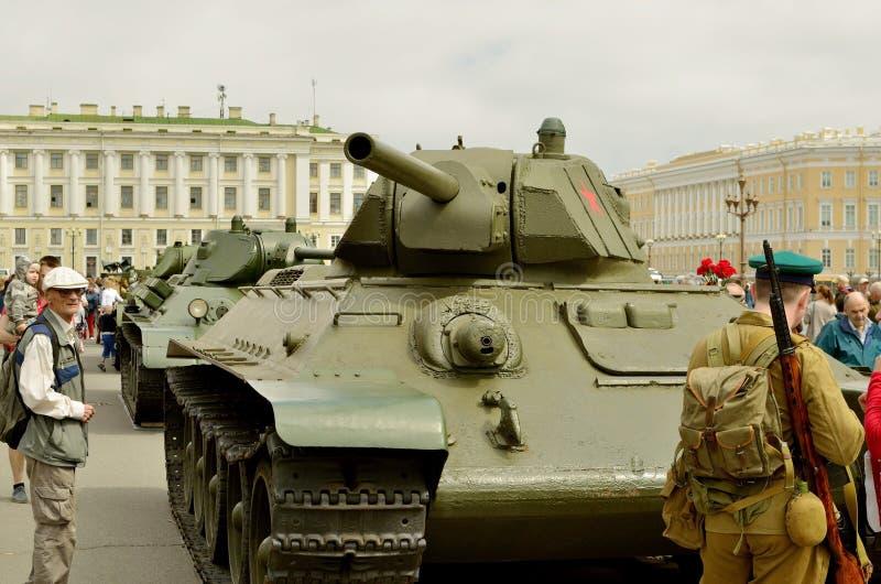 T-34 tanks - oorlogshelden royalty-vrije stock foto