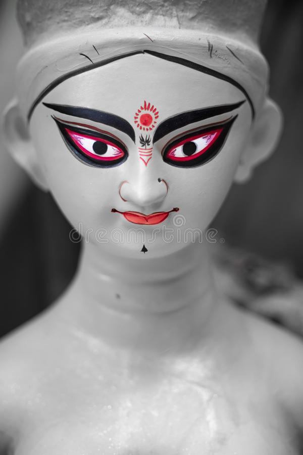 DURGA MAA PORTRAIT. T is that time of the year again for Bengalis across the globe - it is time for Durga Pujo 2018. Beginning with Mahalaya 2018, for Bengalis royalty free stock images