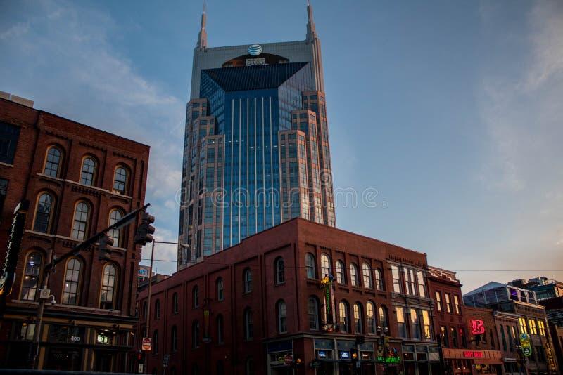 AT&T torn i stadens centrum nashville, TN 03/30/2018 arkivbild