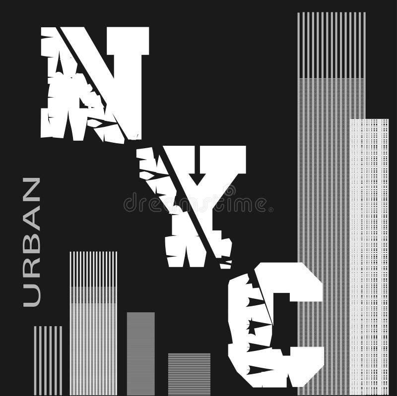 T-tröja New York vektor illustrationer