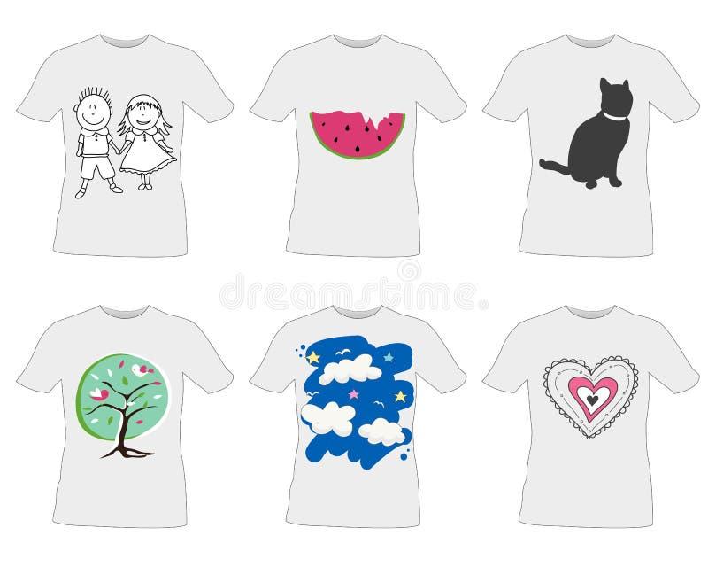 T-tröjamalldesign royaltyfri illustrationer