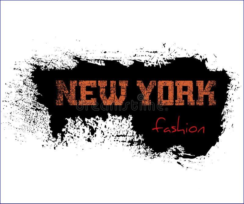 T typografii grafika Nowy Jork koszulowa moda ilustracji