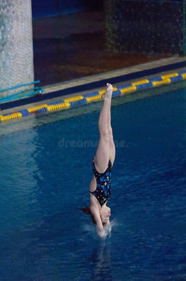 T Vasilieva hoppar royaltyfri foto