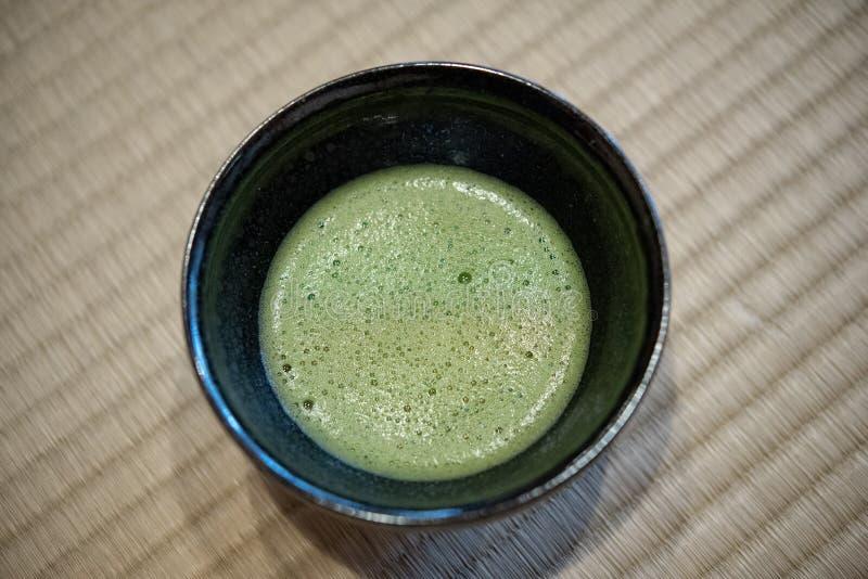 T? verde japon?s de Matcha foto de archivo