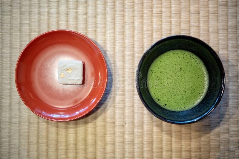 T? verde japon?s de Matcha fotografía de archivo