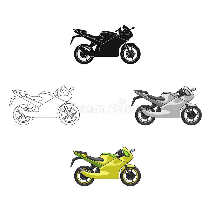 t?vlings- motorcykel Enkel symbol f?r extrem sport i tecknade filmen, svart reng?ringsduk f?r illustration f?r materiel f?r stilv royaltyfri illustrationer