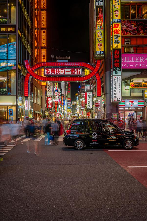T?xi em Tokyo fotos de stock royalty free