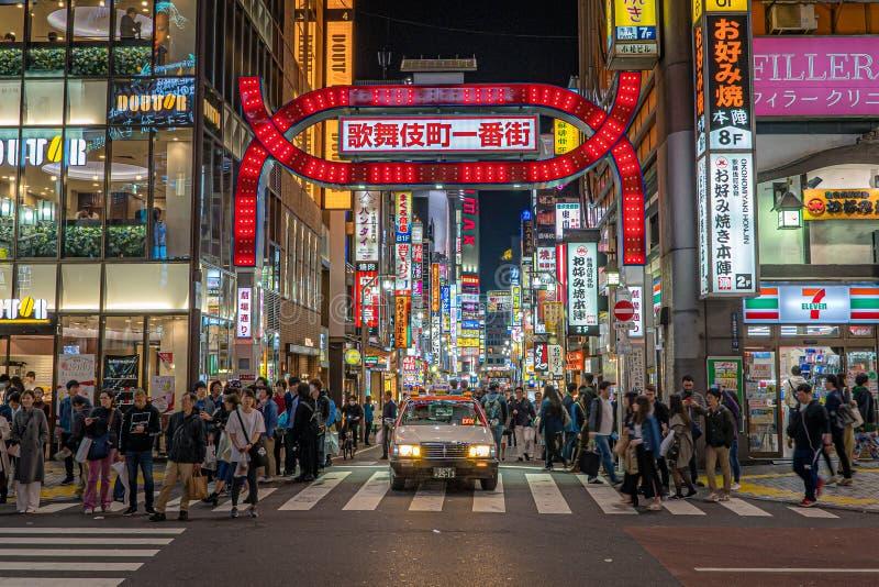 T?xi em Tokyo imagem de stock royalty free