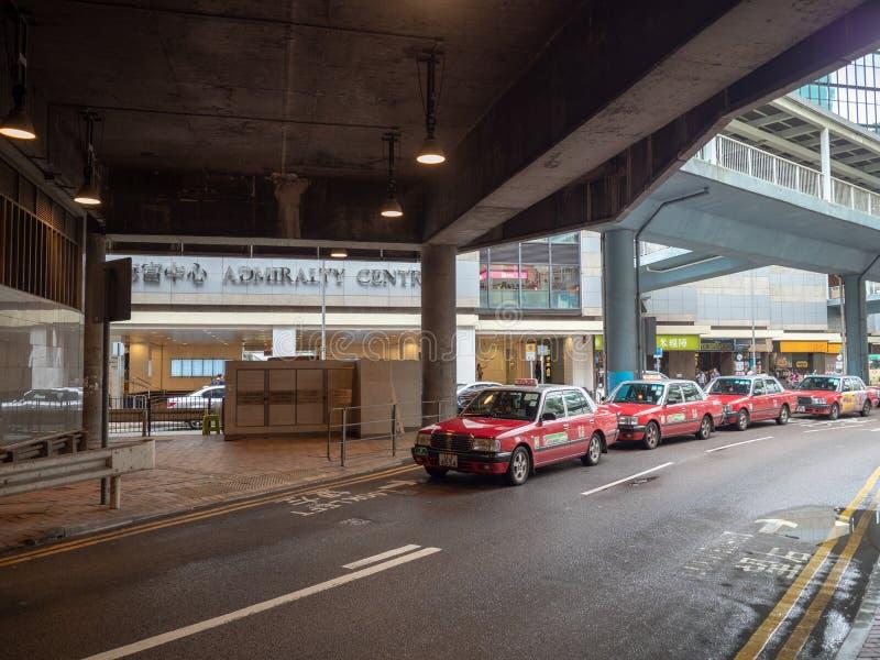 T?xis em Hong Kong foto de stock royalty free