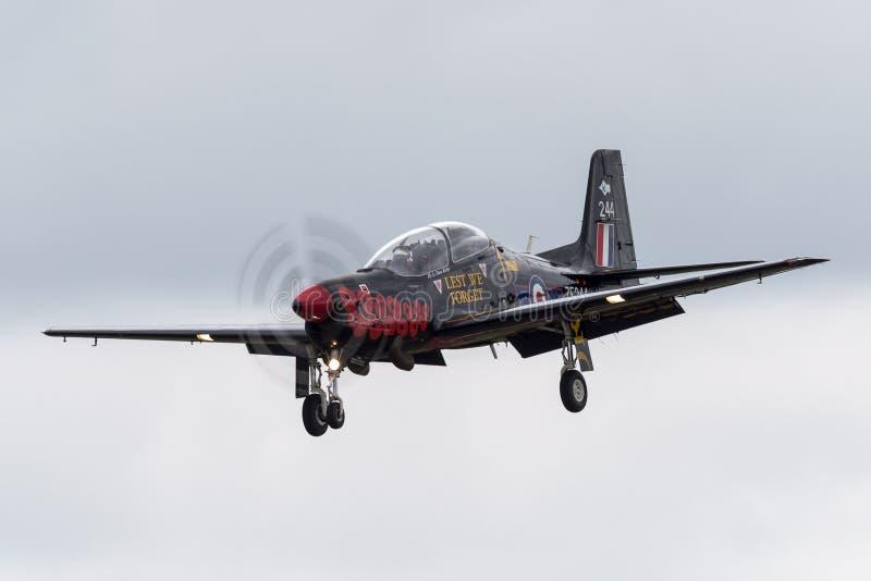 T1 ZF244 de Royal Air Force RAF Short S-312 Tucano de RAF Linton-sur-Ouse photo libre de droits