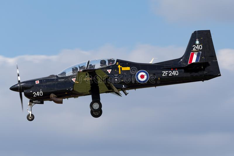 T1 ZF240 de Royal Air Force RAF Short S-312 Tucano de RAF Linton-sur-Ouse photographie stock libre de droits