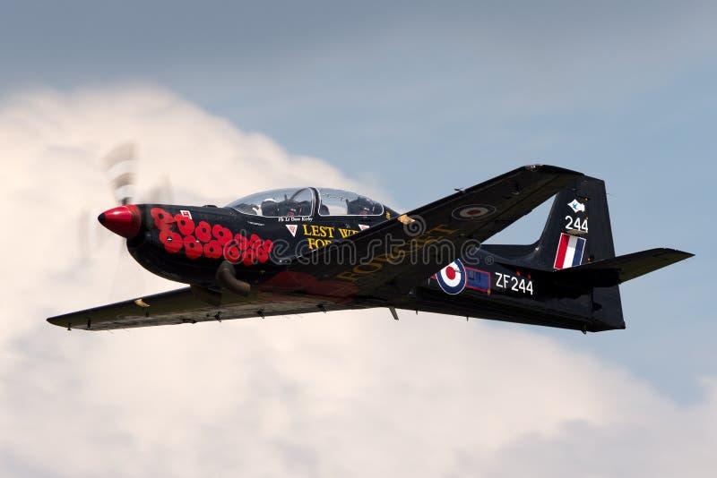 T1 ZF244 de Royal Air Force RAF Short S-312 Tucano de RAF Linton-sur-Ouse images stock