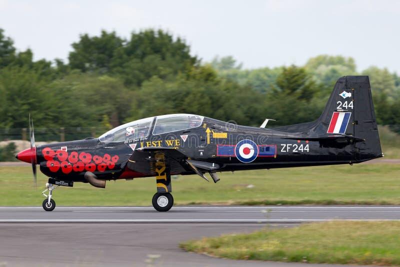 T1 ZF244 de Royal Air Force RAF Short S-312 Tucano de RAF Linton-sur-Ouse images libres de droits