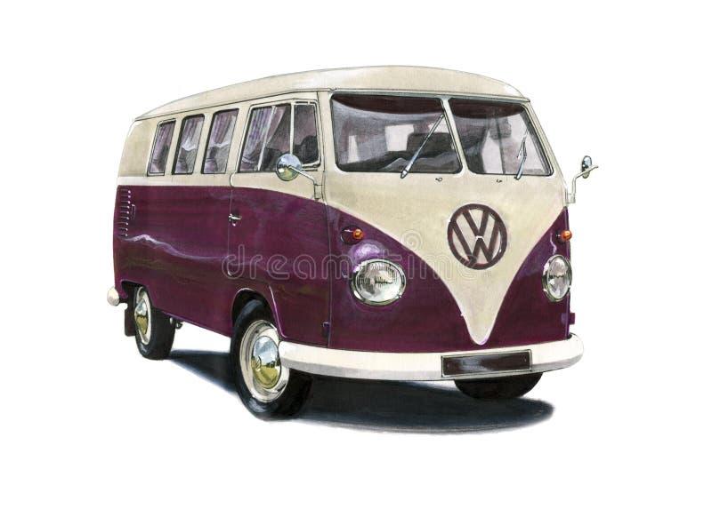 T1 της VW Campervan διανυσματική απεικόνιση