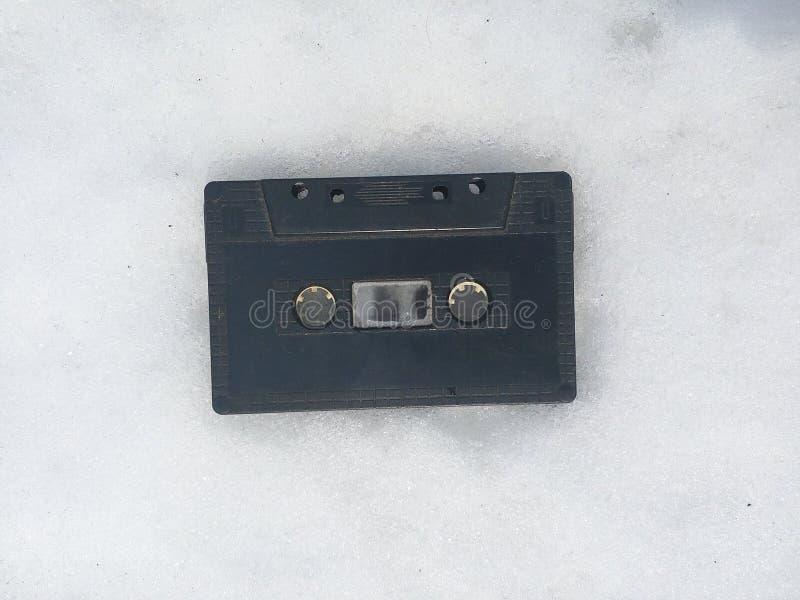 Taśma, tło, biel, kaseta, mieszanka, odizolowywająca, boj, stary, rocznik, retro, technologia, puste miejsce, klingeryt, wystrzał obraz royalty free