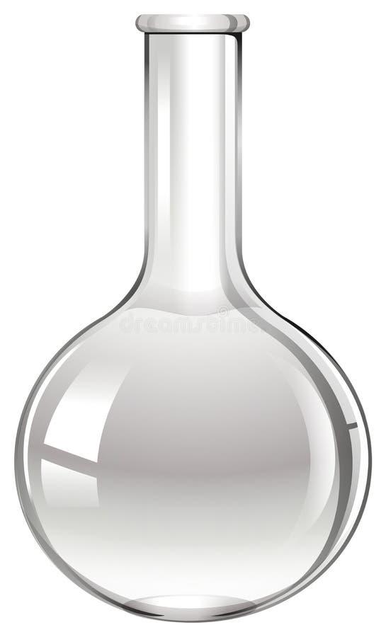 Taça de vidro no branco ilustração do vetor