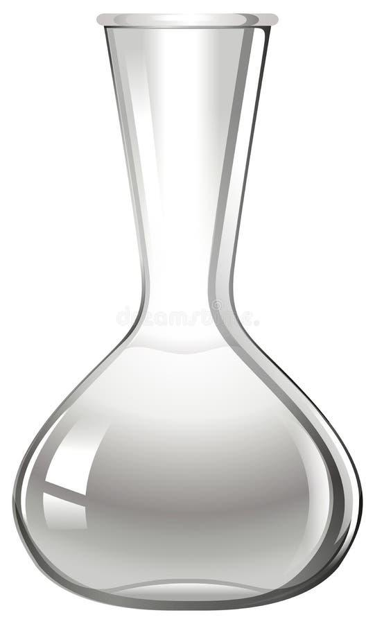 Taça de vidro vazia no branco ilustração do vetor