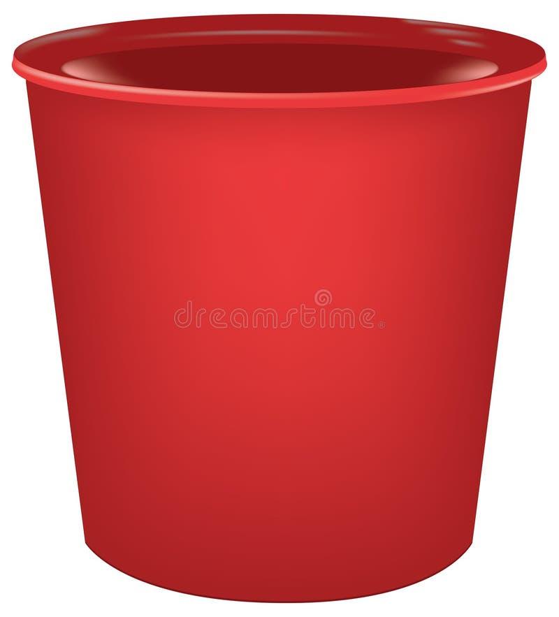 Taça plástica para bebidas ilustração stock