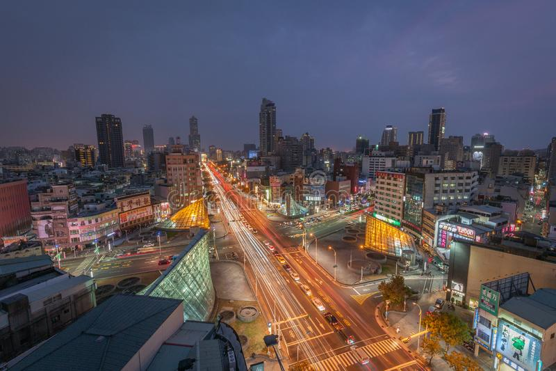 Taïwan la nuit photos libres de droits