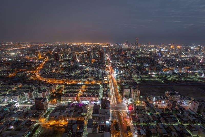 Taïwan la nuit image stock