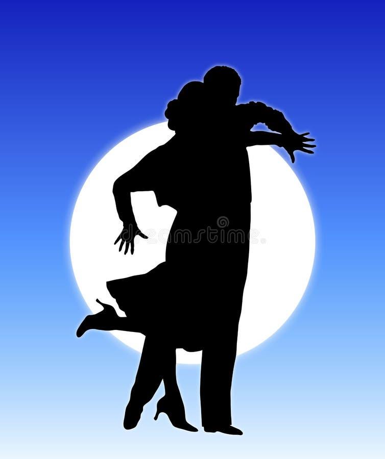 tańczą 8 księżyca ilustracja wektor