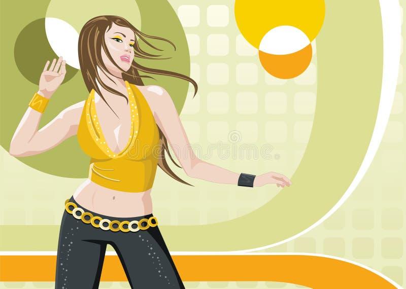 tańcząca dziewczyna royalty ilustracja