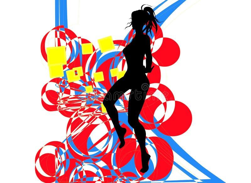 tańcząca dziewczyna ilustracji