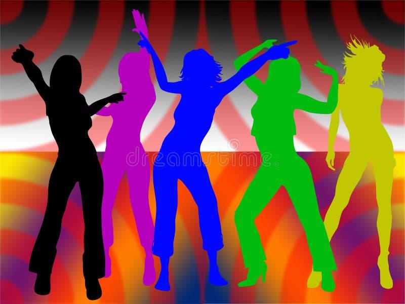 tańczące dziewczyny royalty ilustracja
