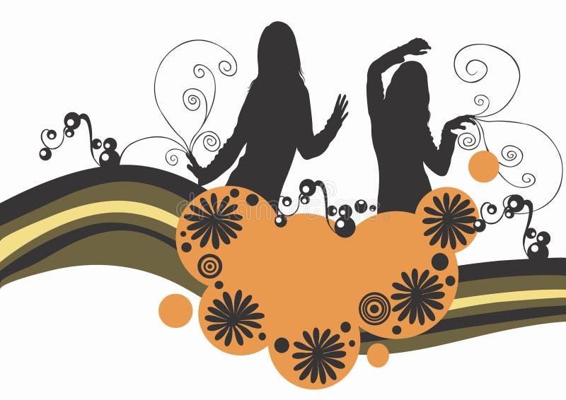 tańczące kobiety royalty ilustracja