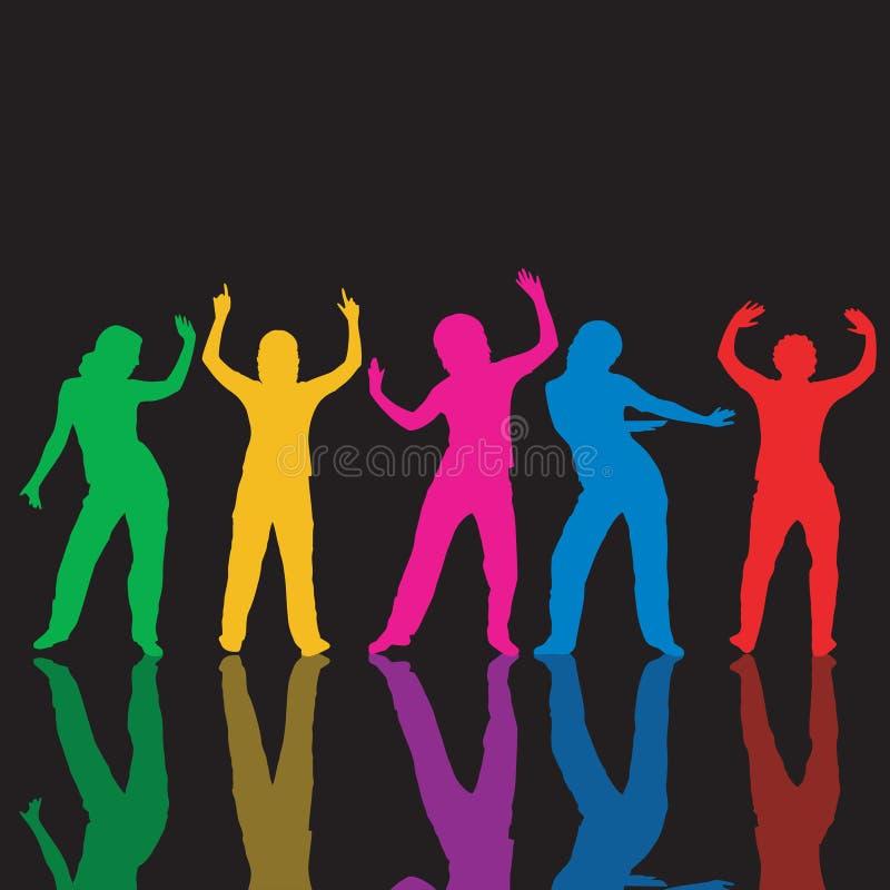 tańczące ludzi royalty ilustracja