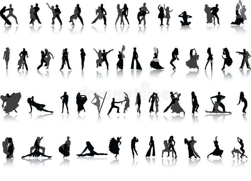 tańczące ludzie położenie ilustracja wektor