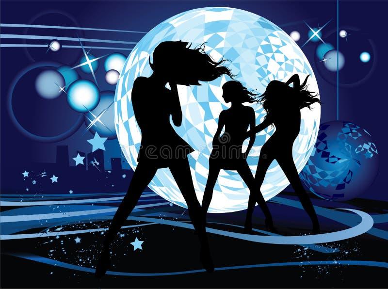 tańczące młode kobiety ilustracja wektor
