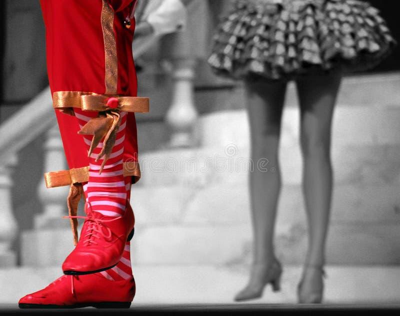 tańczące stopy obraz stock
