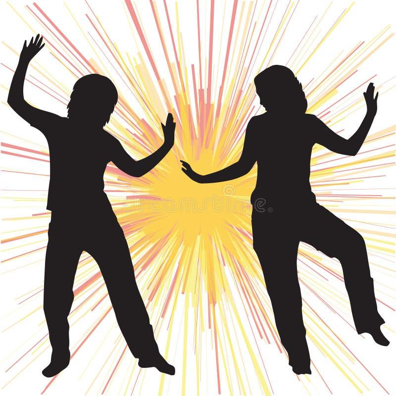 tańczące sylwetki ilustracji
