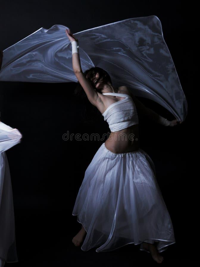 tańczący semidarkness fotografia stock