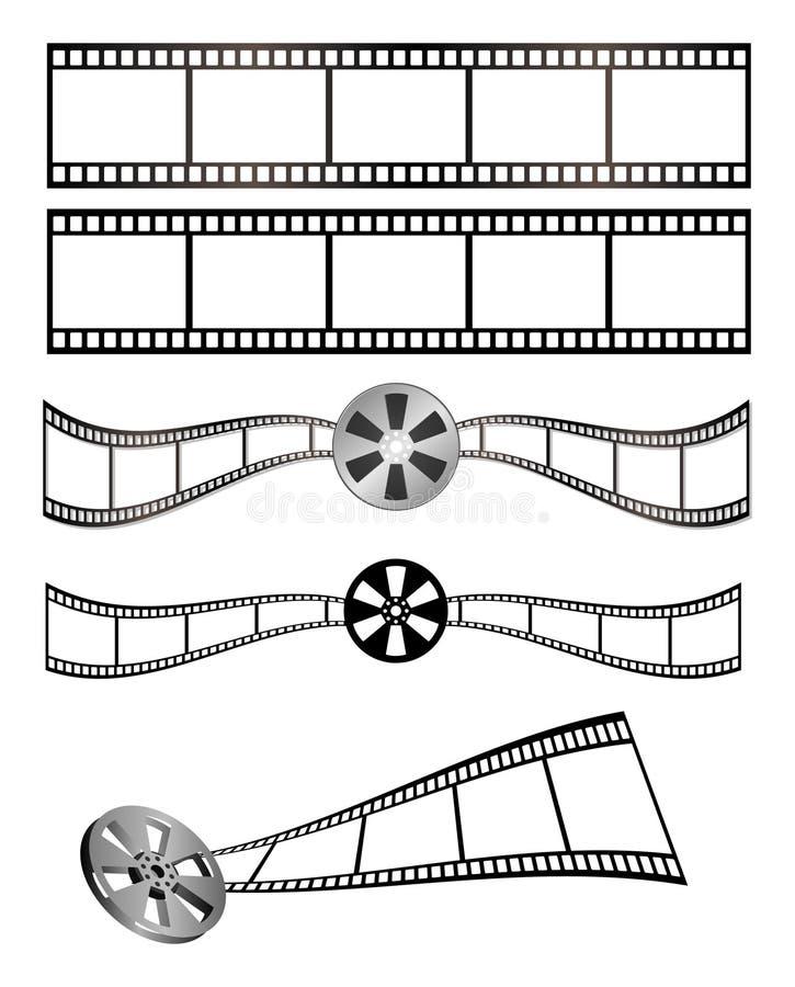taśma filmowa royalty ilustracja