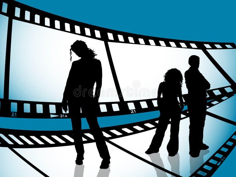 taśma filmowa młodości royalty ilustracja