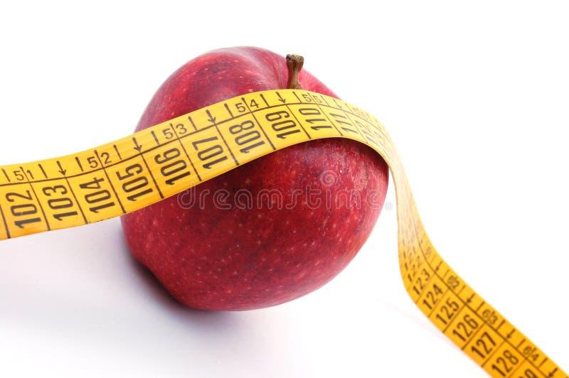 taśma jabłczany pomiarowy biel fotografia royalty free