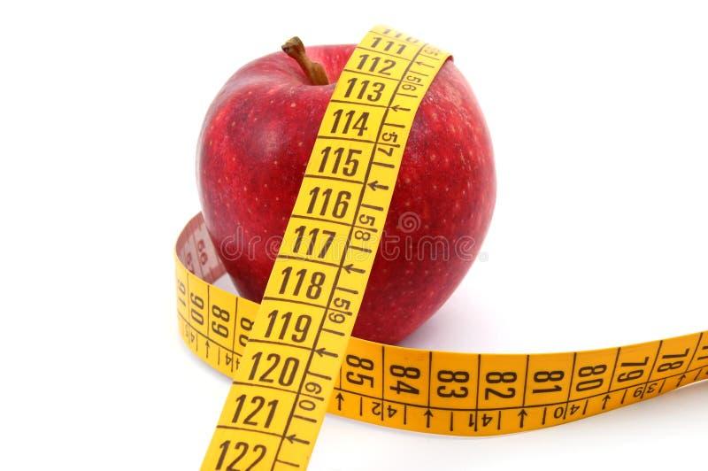 taśma jabłczany pomiarowy biel zdjęcie royalty free