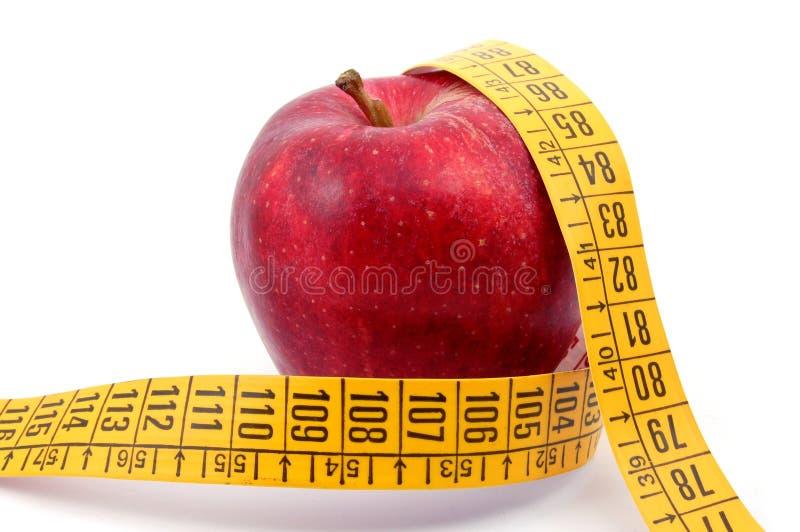 taśma jabłczany pomiarowy biel obrazy stock