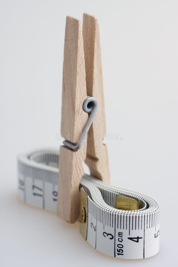 taśmy clothespin środka obraz royalty free