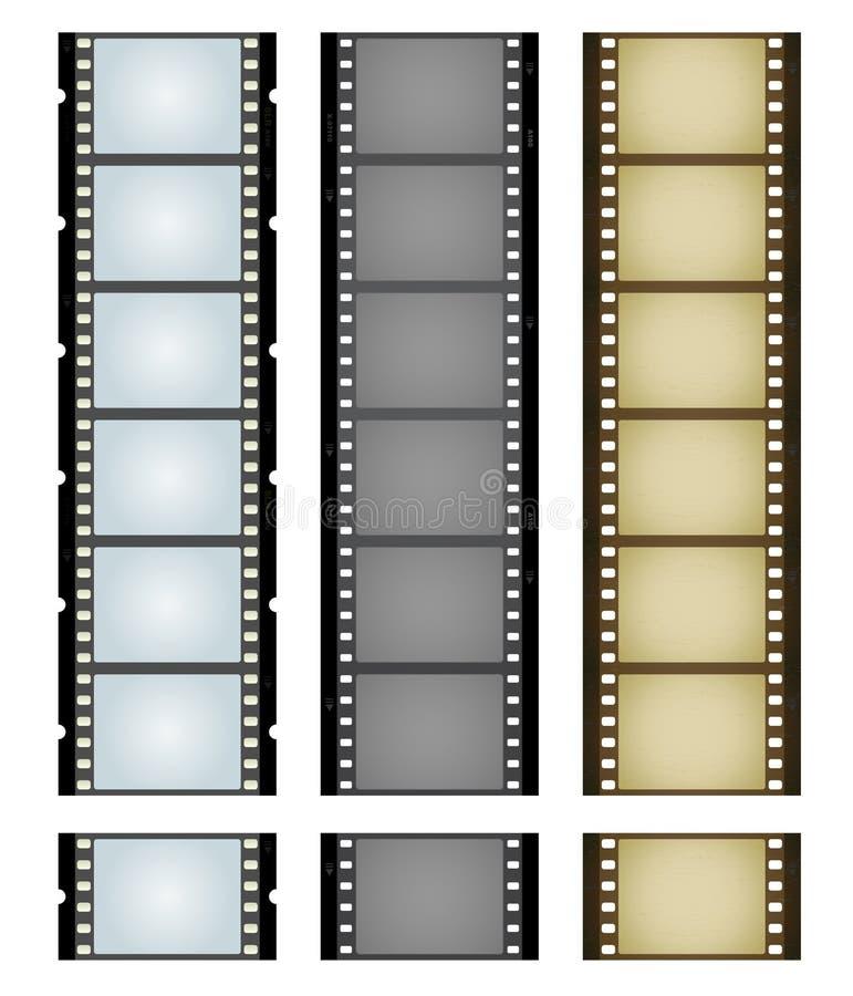 taśmy filmowe trzech kamer royalty ilustracja