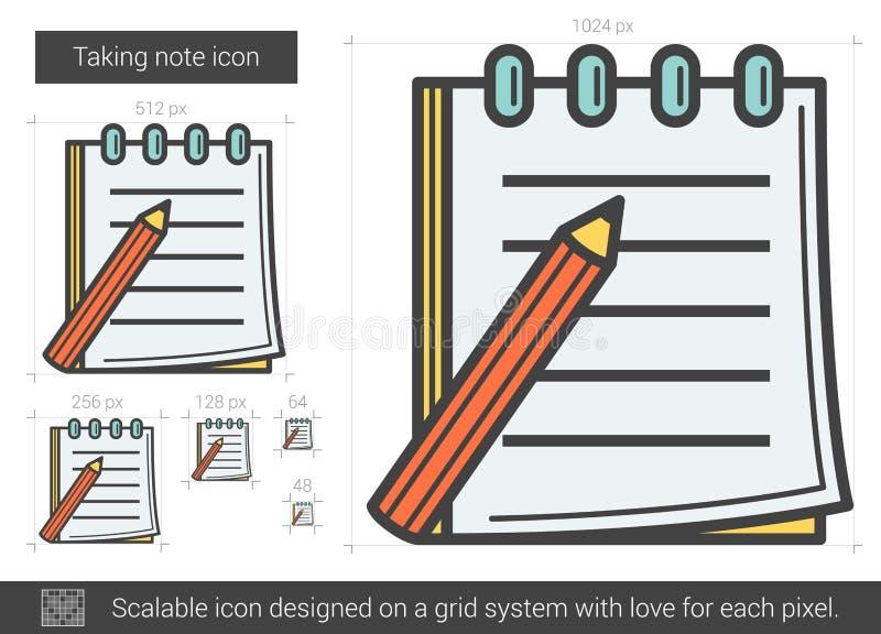 Ta anmärkningslinjen symbol vektor illustrationer