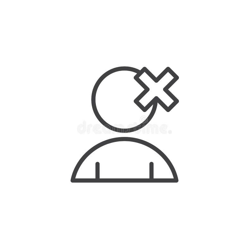 Ta bort användareöversiktssymbolen stock illustrationer