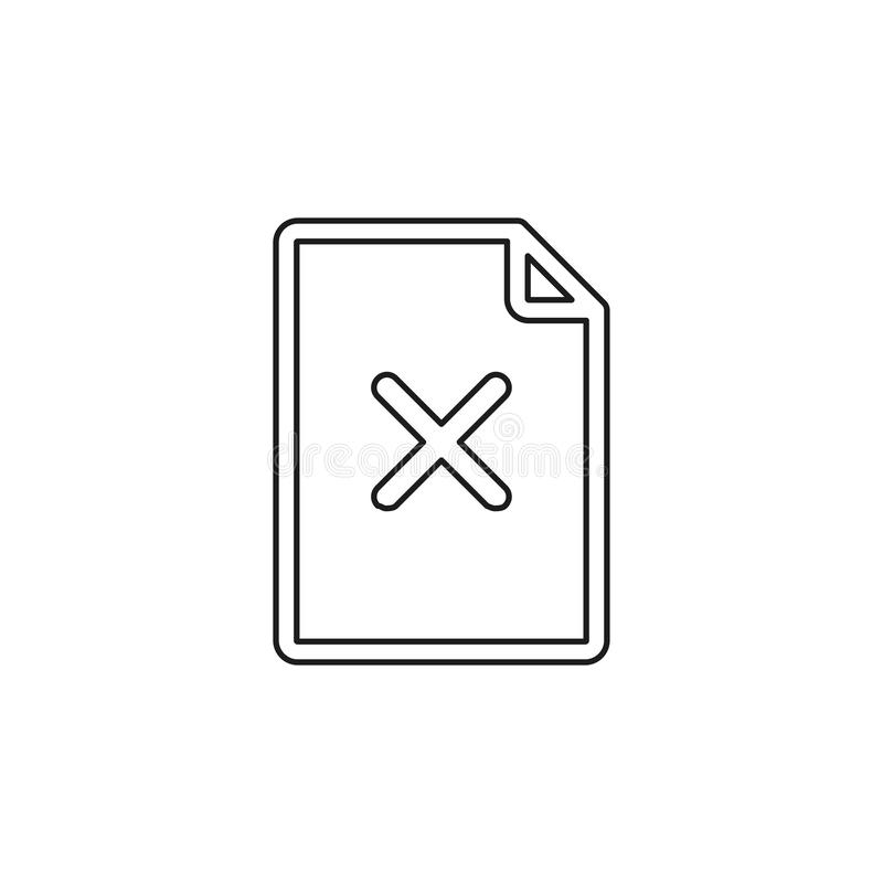Ta bort dokumentsymbolen vektor illustrationer