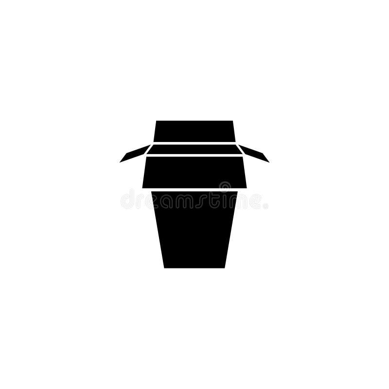 Ta den bort symbolen för vektorn för matasklägenheten stock illustrationer