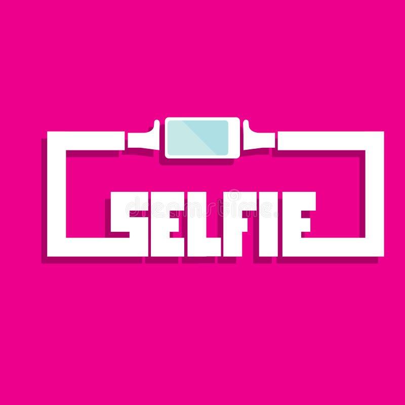 Ta det Selfie fotoet på smart telefonbegreppssymbol vektor illustrationer