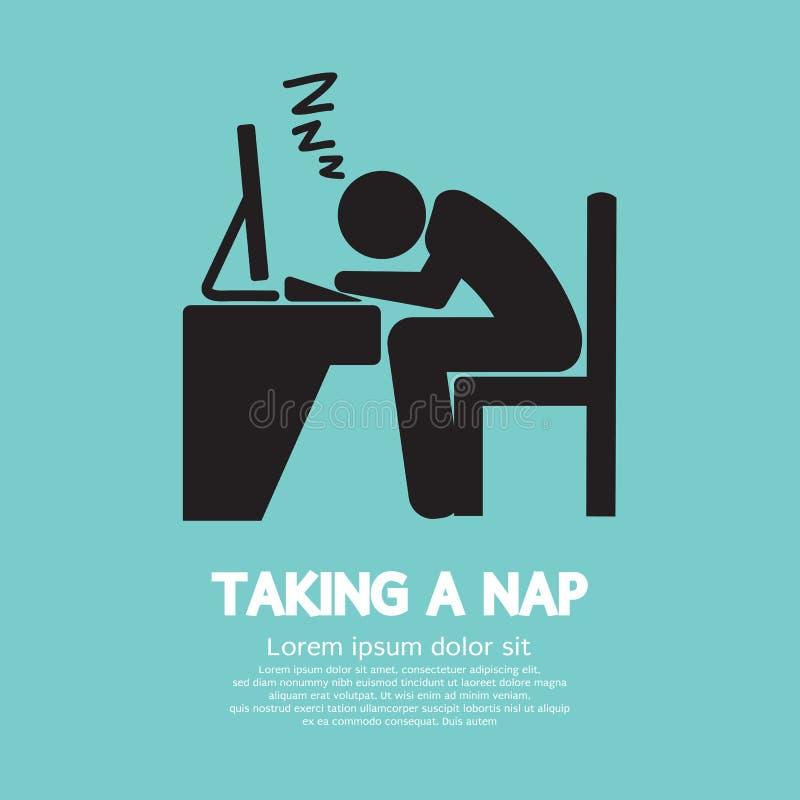 Ta en Nap Graphic Symbol royaltyfri illustrationer