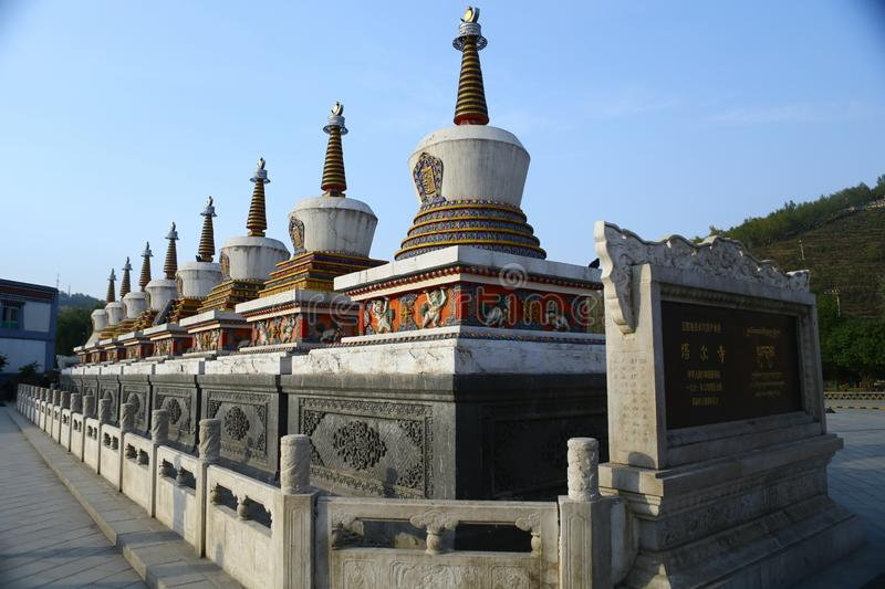 Landscape of the Ta`er Lamasery. The Ta`er Lamasery, a famous Tibetan Buddhist monastery in Qinghai Province, was recently renovated, restoring it to its former royalty free stock images